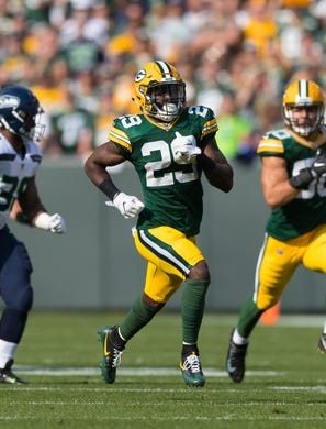Sep 10, 2017; Green Bay, WI, USA; Green Bay Packers safety Kentrell Brice (29) during the game against the Seattle Seahawks at Lambeau Field. Mandatory Credit: Jeff Hanisch-USA TODAY Sports