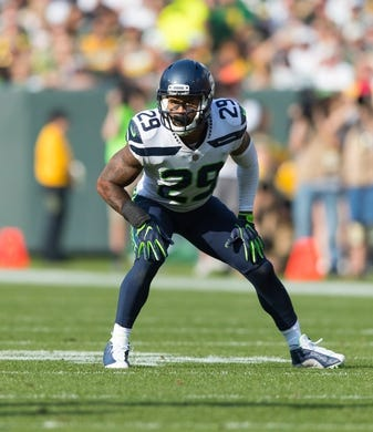 Sep 10, 2017; Green Bay, WI, USA; Seattle Seahawks safety Earl Thomas (29) during the game against the Green Bay Packers at Lambeau Field. Mandatory Credit: Jeff Hanisch-USA TODAY Sports