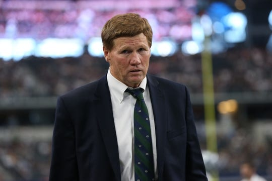 Oct 8, 2017; Arlington, TX, USA; Green Bay Packers president & chief executive officer Mark Murphy on the sidelines prior to the game against the Dallas Cowboys at AT&T Stadium. Mandatory Credit: Matthew Emmons-USA TODAY Sports