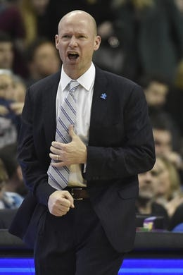 Feb 10, 2018; Washington, DC, USA;  Seton Hall Pirates head coach Kevin Willard reacts to a call during the second half against the Georgetown Hoyas at Capital One Arena. Mandatory Credit: Tommy Gilligan-USA TODAY Sports