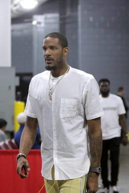 May 14, 2018; Houston, TX, USA; Houston Rockets forward Trevor Ariza (1) walks in to Toyota Center before game one of the Western conference finals of the 2018 NBA Playoffs between the Houston Rockets and the Golden State Warriors. Mandatory Credit: Erik Williams-USA TODAY Sports
