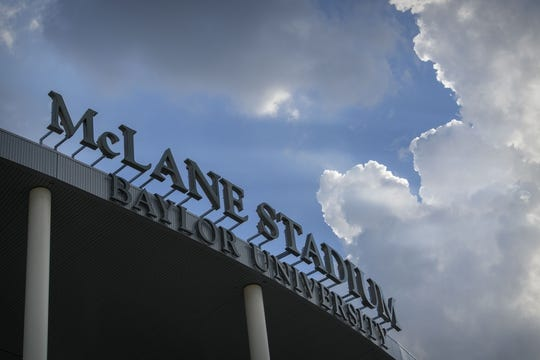 Sep 1, 2018; Waco, TX, USA; A view of the stadium logo before the game between the Baylor Bears and the Abilene Christian Wildcats at McLane Stadium. Mandatory Credit: Jerome Miron-USA TODAY Sports