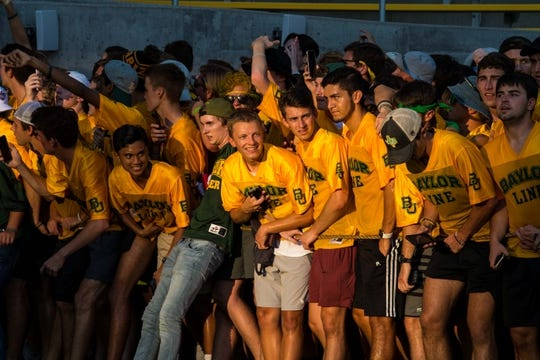 Sep 1, 2018; Waco, TX, USA; A view of the Baylor Bears fans and students during the game between the Baylor Bears and the Abilene Christian Wildcats at McLane Stadium. Mandatory Credit: Jerome Miron-USA TODAY Sports