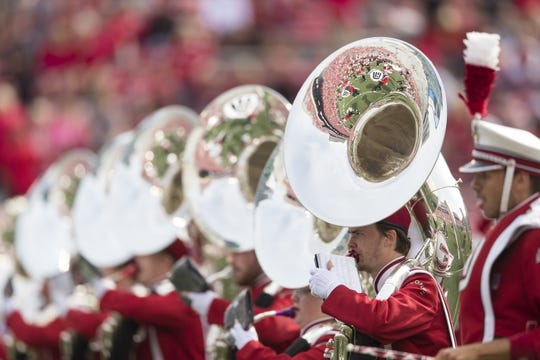 Sep 8, 2018; Madison, WI, USA; The Wisconsin matching band performs prior to a game against the New Mexico Lobos at Camp Randall Stadium. Mandatory Credit: Jeff Hanisch-USA TODAY Sports