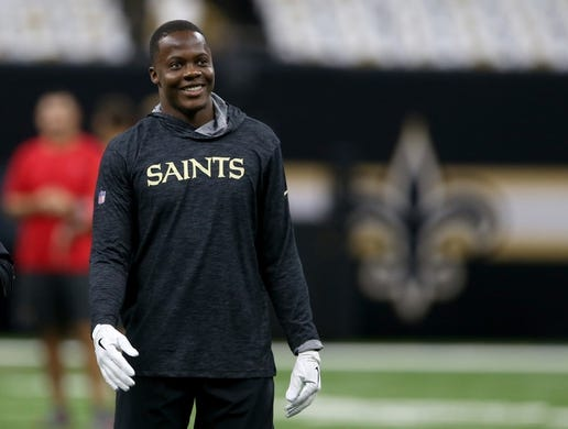 Sep 9, 2018; New Orleans, LA, USA; New Orleans Saints quarterback Teddy Bridgewater (5) before their game against the Tampa Bay Buccaneers at the Mercedes-Benz Superdome. Mandatory Credit: Chuck Cook-USA TODAY Sports