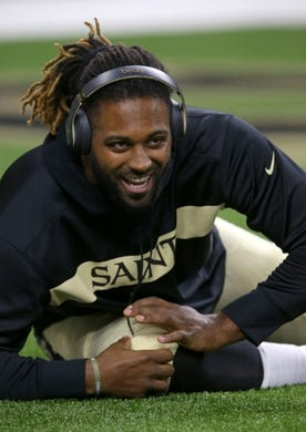 Sep 9, 2018; New Orleans, LA, USA; New Orleans Saints defensive end Cameron Jordan (94) stretches before their game against the Tampa Bay Buccaneers at the Mercedes-Benz Superdome. Mandatory Credit: Chuck Cook-USA TODAY Sports