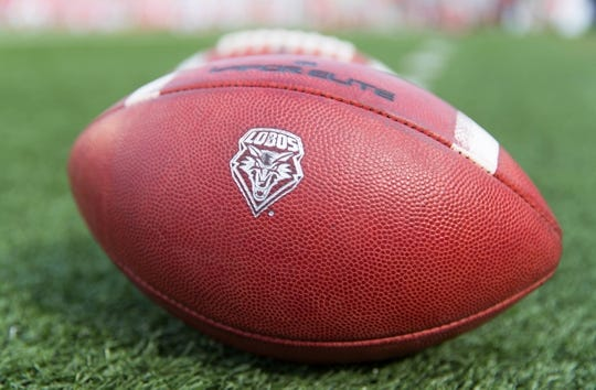 Sep 8, 2018; Madison, WI, USA; New Mexico Lobos footballs sit on the sidelines prior to the game against the Wisconsin Badgers at Camp Randall Stadium. Mandatory Credit: Jeff Hanisch-USA TODAY Sports