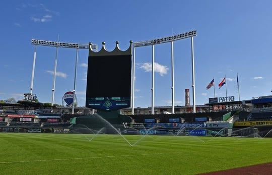 Sep 16, 2018; Kansas City, MO, USA; A general view of Kauffman Stadium prior to a game between the Kansas City Royals and Minnesota Twins. Mandatory Credit: Peter G. Aiken