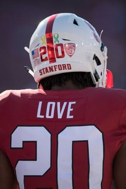 August 31, 2018; Stanford, CA, USA; Stanford Cardinal running back Bryce Love (20) before the game against the San Diego State Aztecs at Stanford Stadium. Mandatory Credit: Kyle Terada-USA TODAY Sports