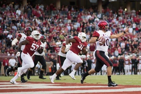 August 31, 2018; Stanford, CA, USA; XXXX during the second quarter at Stanford Stadium. Mandatory Credit: Kyle Terada-USA TODAY Sports