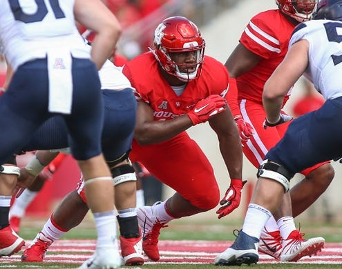 Sep 8, 2018; Houston, TX, USA; Houston Cougars defensive tackle Ed Oliver (10) in action during the game against the Arizona Wildcats at TDECU Stadium. Mandatory Credit: Troy Taormina-USA TODAY Sports