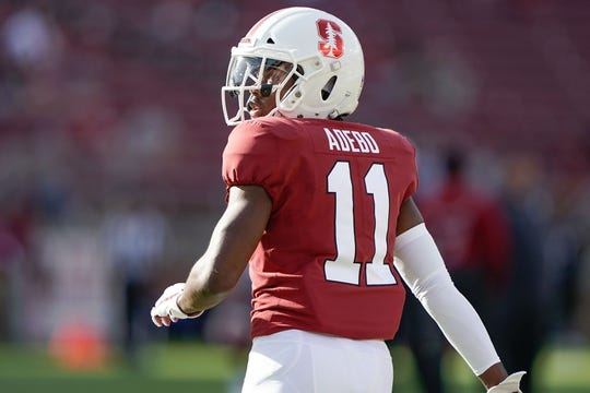 Oct 27, 2018; Stanford, CA, USA; Stanford Cardinal cornerback Paulson Adebo (11) before the game against the Washington State Cougars at Stanford Stadium. Mandatory Credit: Stan Szeto-USA TODAY Sports