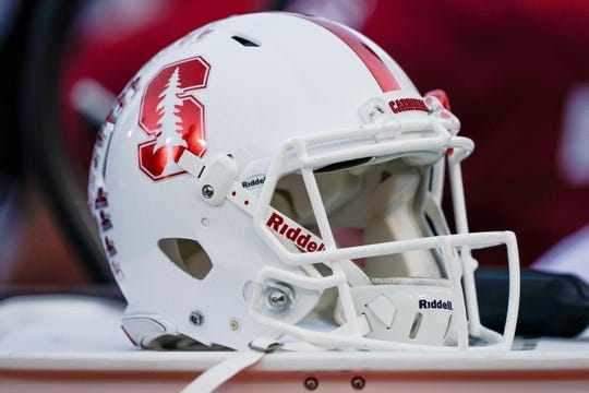 Oct 27, 2018; Stanford, CA, USA; General view of the Stanford Cardinal helmet during the first quarter against the Washington State Cougars at Stanford Stadium. Mandatory Credit: Stan Szeto-USA TODAY Sports