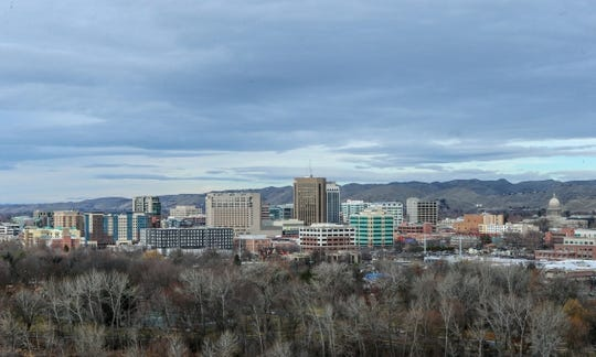 Dec 21, 2018; Boise, ID, United States; A general view of downtown Boise, Idaho  prior to the start of the 2018 Idaho Potato Bowl between BYU and Western Michigan. Mandatory Credit: Brian Losness-USA TODAY Sports