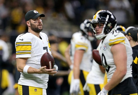 Dec 23, 2018; New Orleans, LA, USA; Pittsburgh Steelers quarterback Ben Roethlisberger (7) warms up before their game against the New Orleans Saints at the Mercedes-Benz Superdome. Mandatory Credit: Chuck Cook-USA TODAY Sports