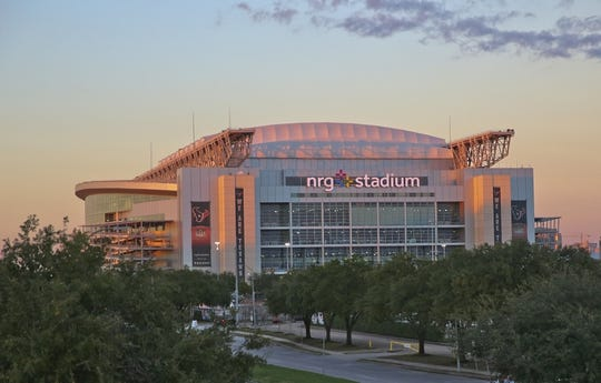 Dec 27, 2018; Houston, TX, United States; The sun sets as on NRG Stadium as the Baylor Bears and Vanderbilt Commodores make their way into the stadium in the 2018 Texas Bowl at NRG Stadium. Mandatory Credit: Thomas B. Shea-USA TODAY Sports