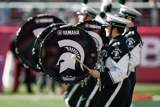Dec 31, 2018; Santa Clara, CA, USA; Michigan State Spartans band entertains the crowd before the game against the Oregon Ducks at Levi's Stadium. Mandatory Credit: Stan Szeto-USA TODAY Sports