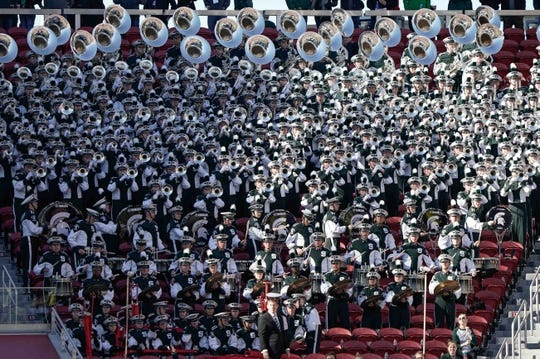 Dec 31, 2018; Santa Clara, CA, USA; General view of the Michigan State Spartans band in the game against the Oregon Ducks during the second quarter at Levi's Stadium. Mandatory Credit: Stan Szeto-USA TODAY Sports