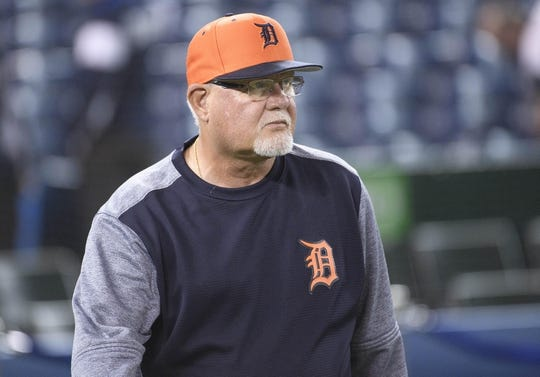 Mar 29, 2019; Toronto, Ontario, CAN; Detroit Tigers manager Ron Gardenhire (15) watches his players during batting practice against the Toronto Blue Jays at Rogers Centre. Mandatory Credit: Nick Turchiaro-USA TODAY Sports