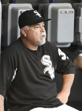 Jul 25, 2019; Chicago, IL, USA; Chicago White Sox manager Rick Renteria (36) sits in the dugout before the game against the Minnesota Twins at Guaranteed Rate Field. Mandatory Credit: David Banks-USA TODAY Sports