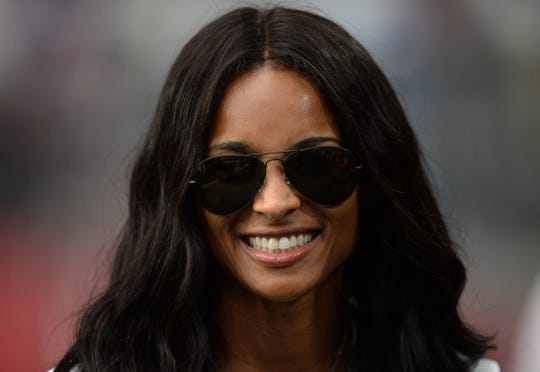 Sep 29, 2019; Glendale, AZ, USA; Recording artist Ciara attends the game between the Arizona Cardinals and the Seattle Seahawks at State Farm Stadium. Mandatory Credit: Joe Camporeale-USA TODAY Sports