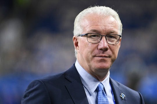 Oct 20, 2019; Detroit, MI, USA; Detroit Lions president Ron Wood before the game against the Minnesota Vikings at Ford Field. Mandatory Credit: Tim Fuller-USA TODAY Sports