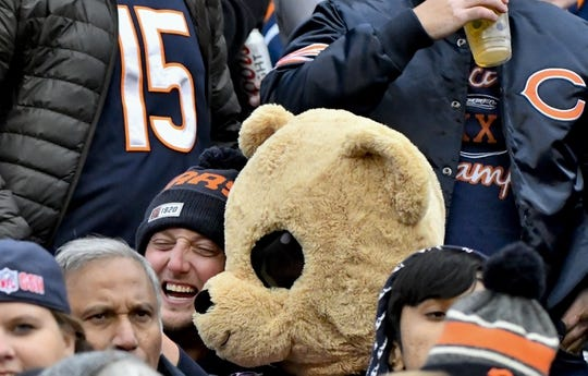 Oct 20, 2019; Chicago, IL, USA; Chicago Bears fans during the second half against the New Orleans Saints  at Soldier Field. Mandatory Credit: Matt Marton-USA TODAY Sports