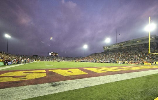 Sep 3, 2015; Mount Pleasant, MI, USA;  General view of stadium during the 1st quarter of the game between the Oklahoma City Cowboys and Central Michigan Chippewas at Kelly/Shorts Stadium. Mandatory Credit: Mike Carter-USA TODAY Sports