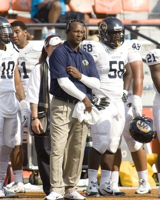 Sep 5, 2015; Champaign, IL, USA; Kent State Golden Flashes head coach Paul Haynes in action at Memorial Stadium. Illinois beat Kent State 52-3.  Mandatory Credit: Mike Granse-USA TODAY Sports