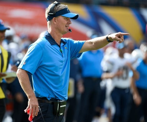 Oct 4, 2015; San Diego, CA, USA; San Diego Chargers head coach Mike McCoy on the sidelines during the fourth quarter of his team's 30-27 win over the Cleveland Browns at Qualcomm Stadium. Mandatory Credit: Robert Hanashiro-USA TODAY Sports