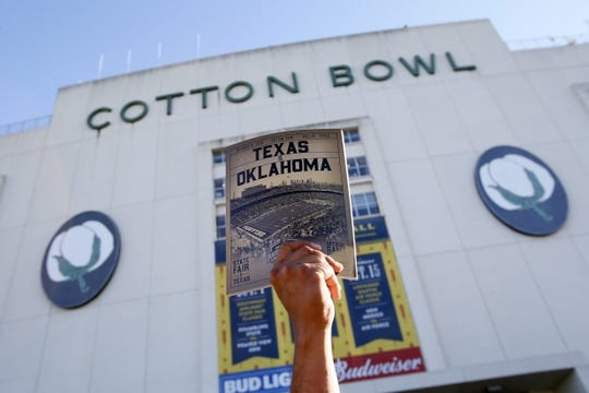 Oct 8, 2016; Dallas, TX, USA; A general view of the stadium and game program before the game between theTexas Longhorns and the Oklahoma Sooners  at Cotton Bowl. Mandatory Credit: Tim Heitman-USA TODAY Sports