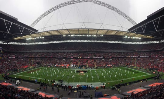 Oct 30, 2016; London, United Kingdom; General view of game 17 of the NFL International Series between the Cincinnati Bengals and the Washington Redskins at Wembley Stadium. Mandatory Credit: Kirby Lee-USA TODAY Sports