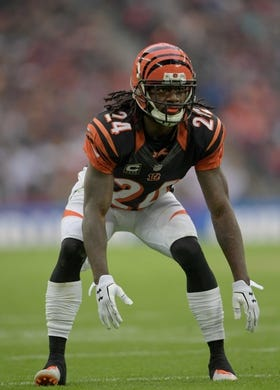 Oct 30, 2016; London, United Kingdom; Cincinnati Bengals cornerback Adam Jones (24) during game 17 of the NFL International Series against the Washington Redskins at Wembley Stadium. The Redskins and Bengals tied 27-27 tie. Mandatory Credit: Kirby Lee-USA TODAY Sports