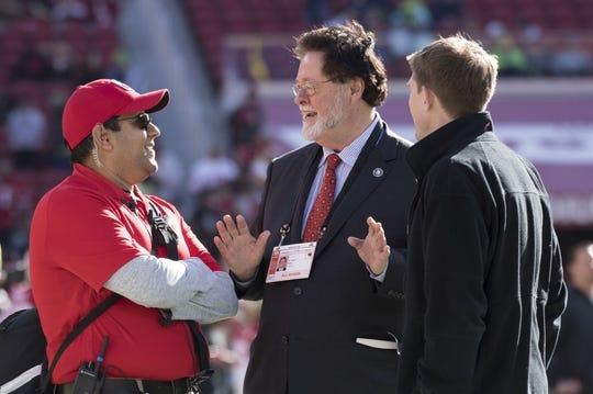 January 1, 2017; Santa Clara, CA, USA; San Francisco 49ers co-chairman John York before the game against the Seattle Seahawks at Levi's Stadium. Mandatory Credit: Kyle Terada-USA TODAY Sports