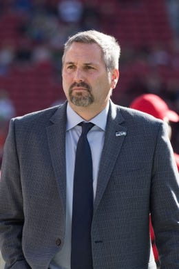 January 1, 2017; Santa Clara, CA, USA; Seattle Seahawks senior vice president of communications Dave Pearson before the game against the San Francisco 49ers at Levi's Stadium. The Seahawks defeated the 49ers 25-23. Mandatory Credit: Kyle Terada-USA TODAY Sports