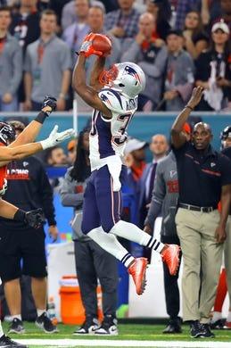 Feb 5, 2017; Houston, TX, USA; New England Patriots defensive back Duron Harmon (30) against the Atlanta Falcons during Super Bowl LI at NRG Stadium. Mandatory Credit: Mark J. Rebilas-USA TODAY Sports