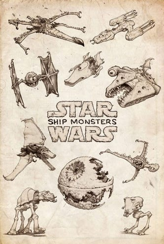 Star Wars ships reimagined as monsters | Sneakhype