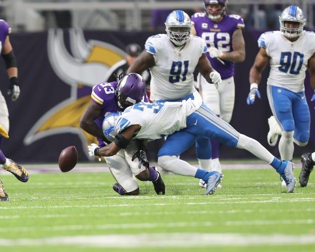 NFL Week 17 Predictions: Detroit Lions vs Minnesota Vikings 1/3/21 NFL Picks, Odds, Predictions