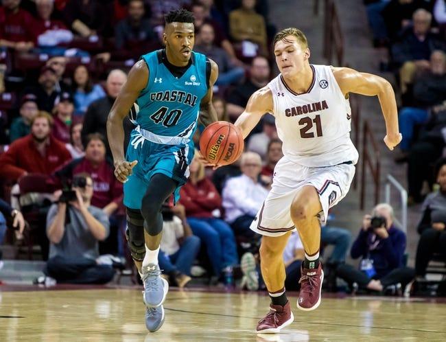 Coastal Carolina at Bryant: 3/22/21 College Basketball Picks and Prediction