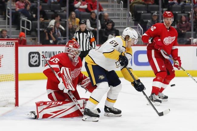 Nashville Predators vs Detroit Red Wings NHL Picks, Odds, Predictions 2/11/21