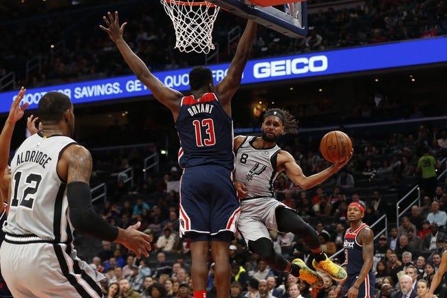 Washington Wizards at San Antonio Spurs - 1/24/21 NBA Picks and Prediction