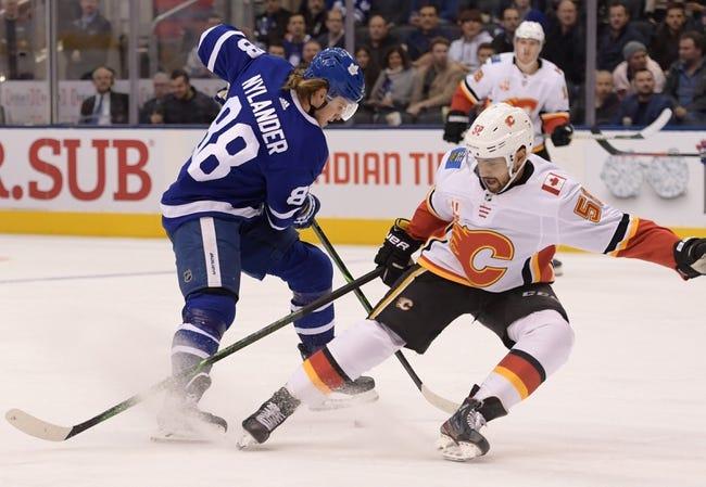 Toronto Maple Leafs at Calgary Flames - 1/24/21 NHL Picks and Prediction