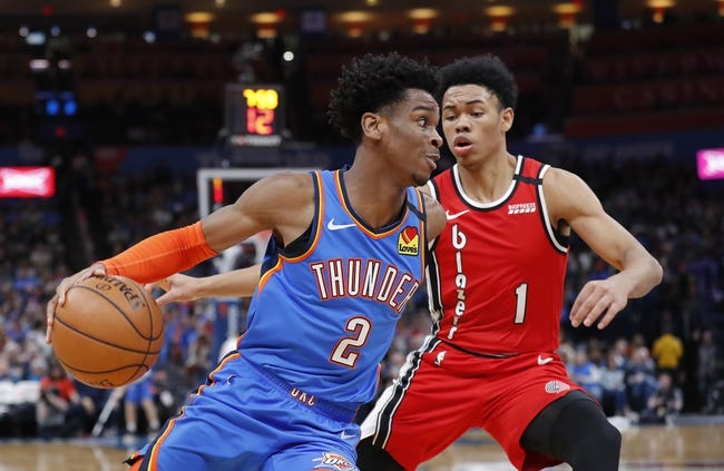 Oklahoma City Thunder at Portland Trail Blazers - 1/25/21 NBA Picks and Prediction