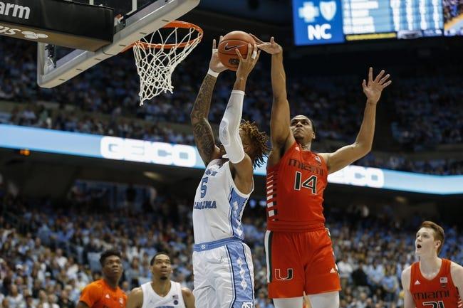 Miami vs North Carolina College Basketball Picks, Odds, Predictions 1/5/21