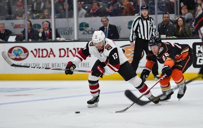 Arizona Coyotes vs Anaheim Ducks NHL Picks, Odds, Predictions 1/26/21