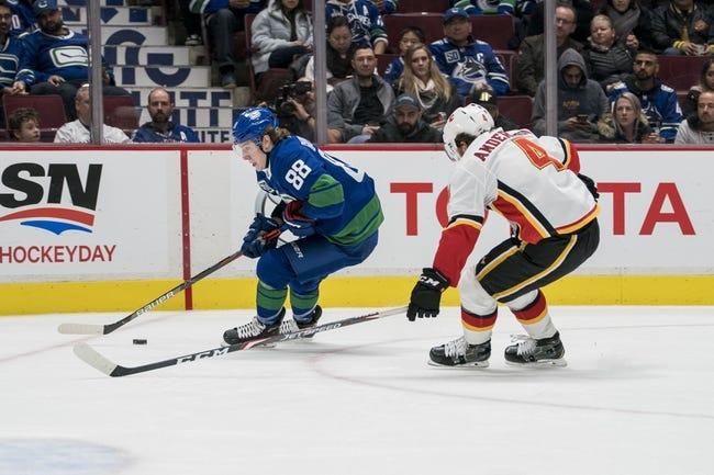 Vancouver Canucks at Calgary Flames - 1/16/21 NHL Picks and Prediction