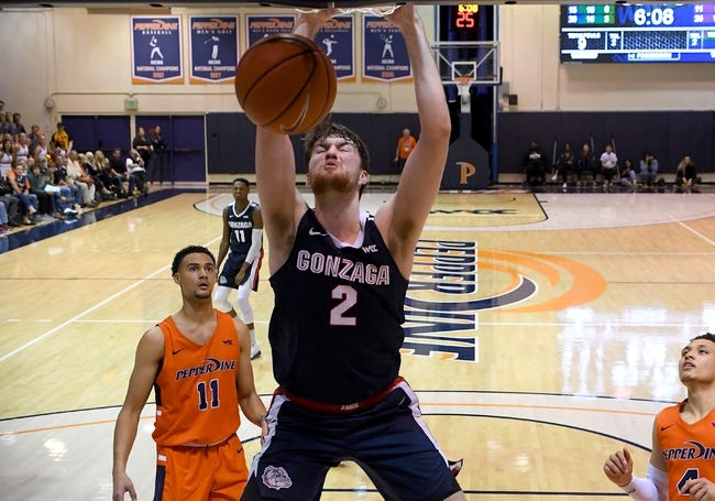 Pepperdine at Gonzaga: 1/14/21 College Basketball Picks and Predictions