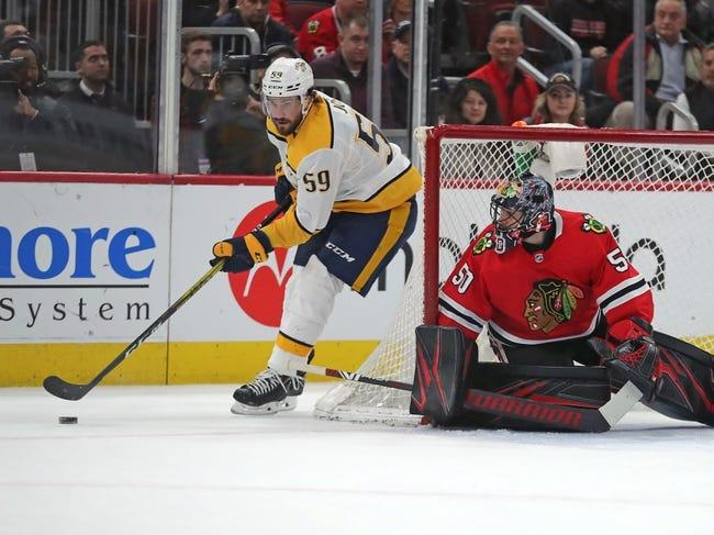 Nashville Predators vs Chicago Blackhawks NHL Picks, Odds, Predictions 1/26/21