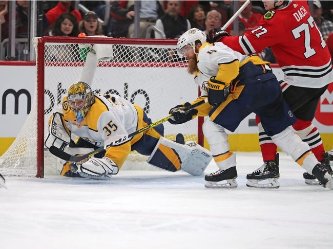 Chicago Blackhawks at Nashville Predators - 1/26/21 NHL Picks and Prediction