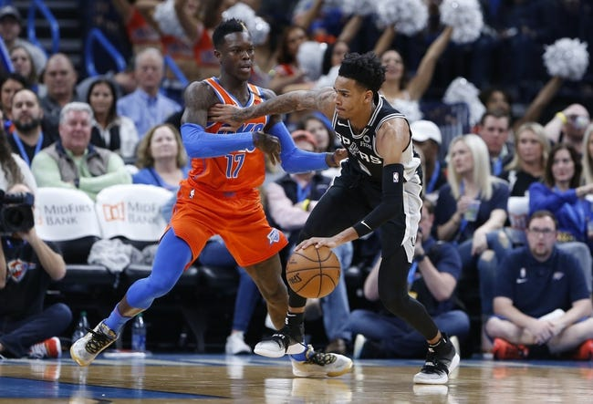 San Antonio Spurs at Oklahoma City Thunder - 1/12/21 NBA Picks and Prediction